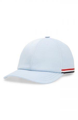 Men's Thom Browne Twill Baseball Cap - Blue