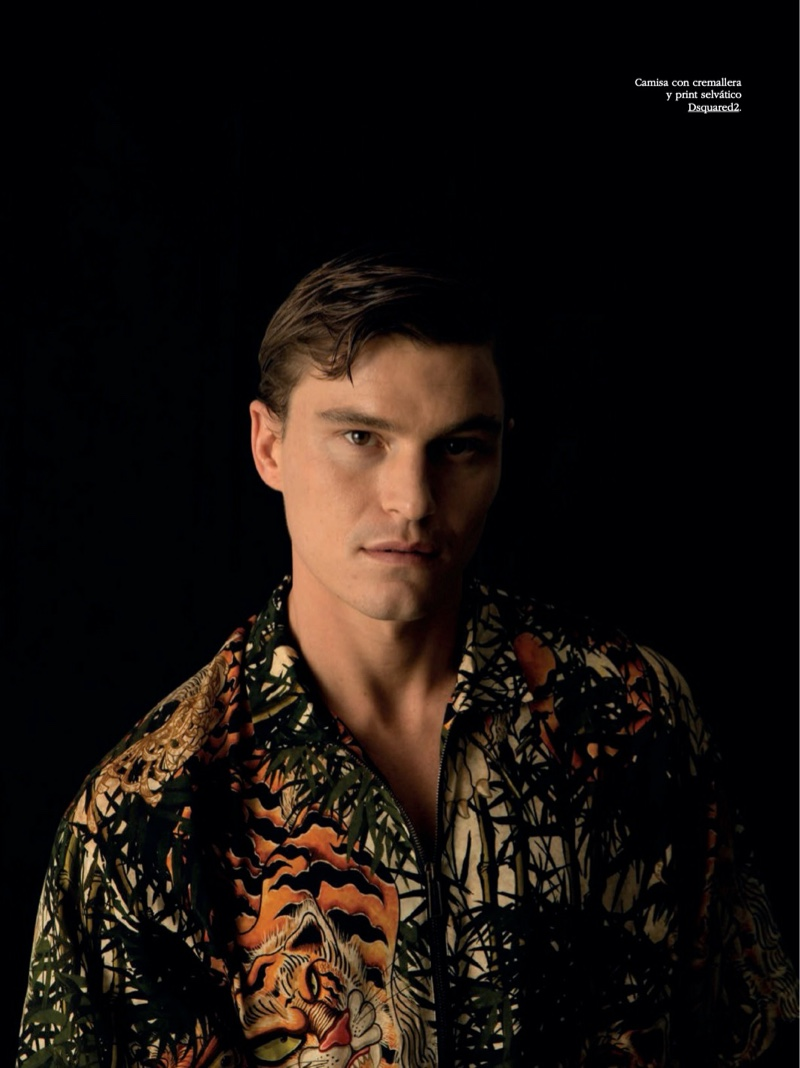 Oliver Cheshire Dons Printed Shirts for Spanish GQ