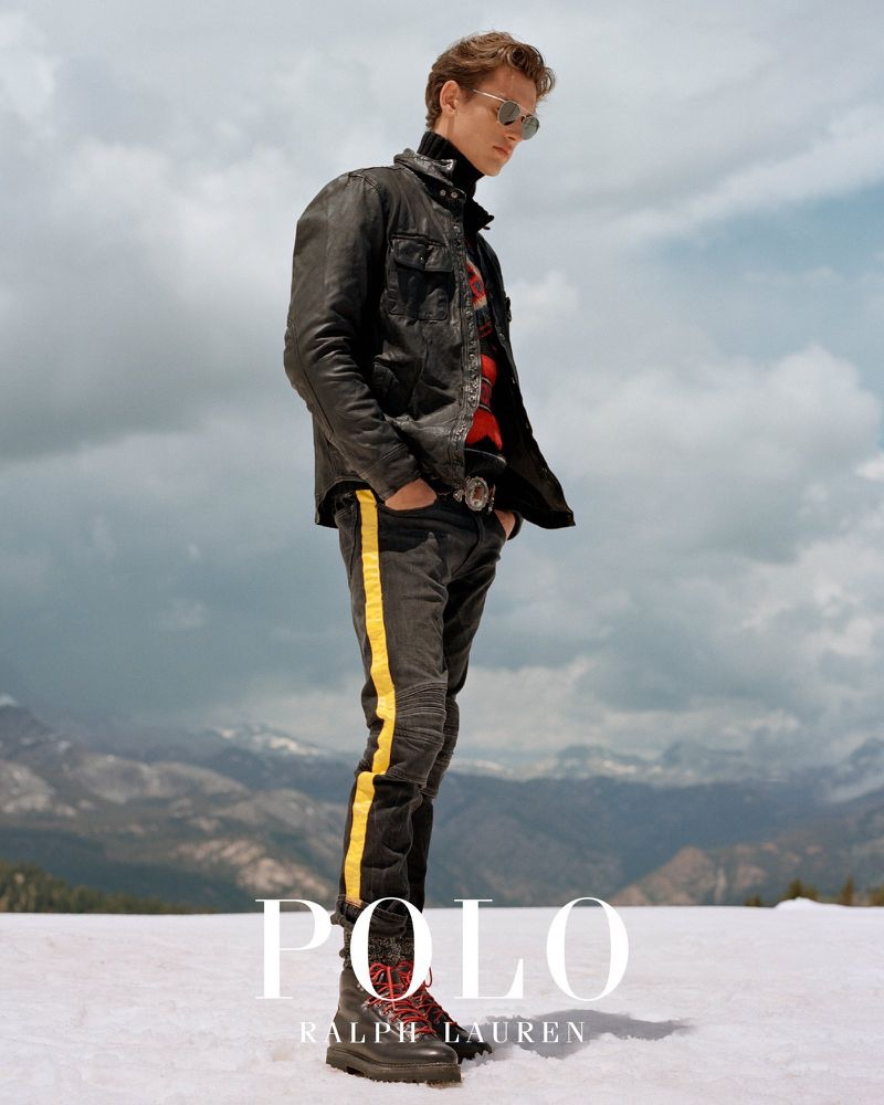 Front and center, Jegor Venned stars in POLO Ralph Lauren's fall-winter 2019 outerwear campaign.