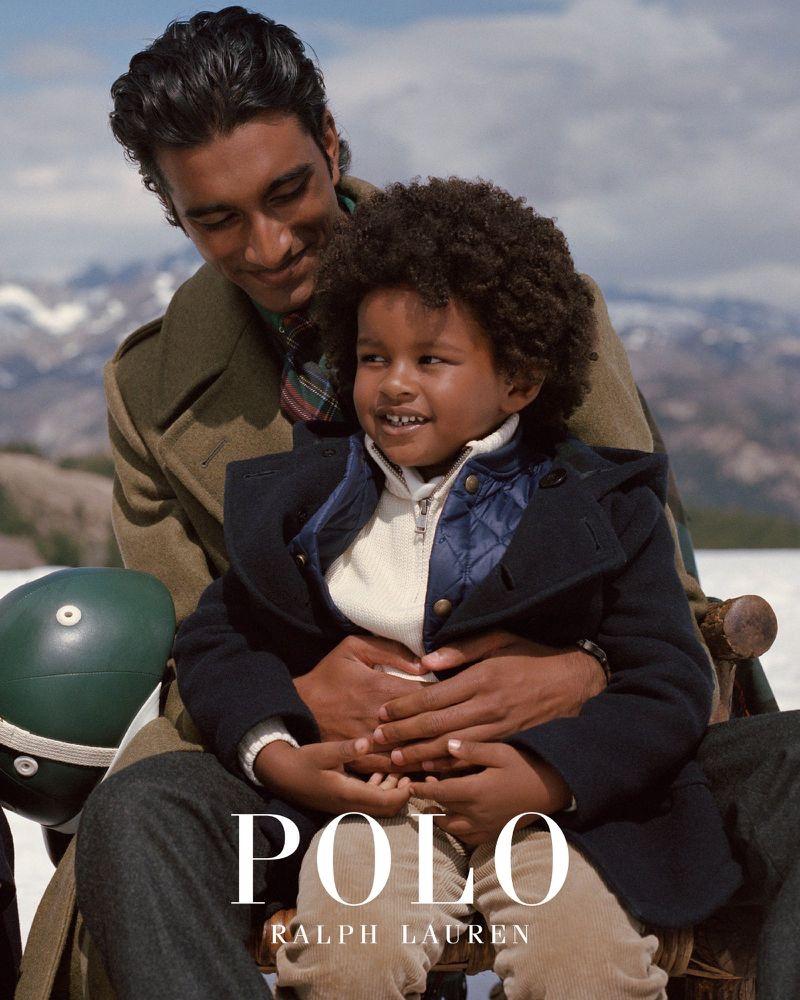 Model Jeenu Mahadevan appears in POLO Ralph Lauren's fall-winter 2019 outerwear campaign.