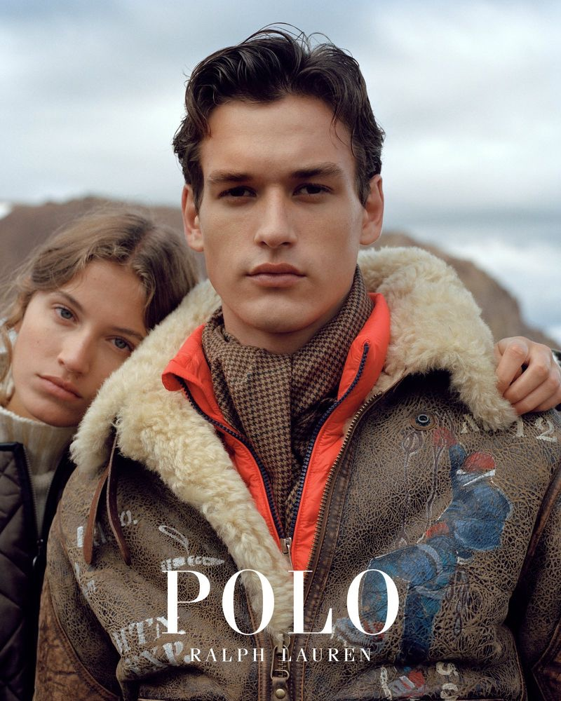 Altyn Simpson and Jegor Venned front POLO Ralph Lauren's fall-winter 2019 outerwear campaign.