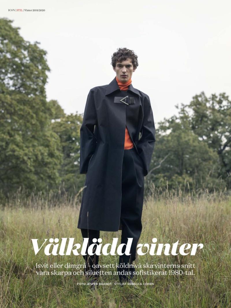 Piero Mendez Dons Sleek Tailoring for Icon Magazine