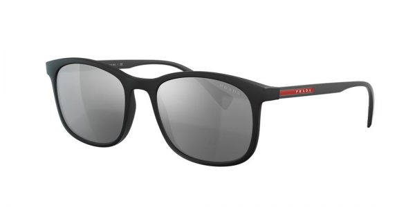 Prada Linea Rossa Man PS 01TS - Frame color: Black, Lens color: Silver, Size 56-19/140