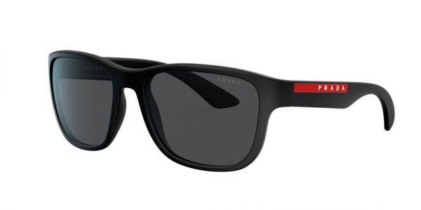 Prada Linea Rossa Man PS 01US - Frame color: Black, Lens color: Grey-Black, Size 59-19/145