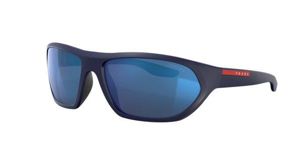 Prada Linea Rossa Man PS 18US - Frame color: Blue, Lens color: Blue, Size 66-17/135