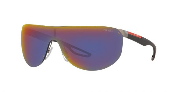 Prada Linea Rossa Man PS 61US - Frame color: Gunmetal, Lens color: Blue Mirror, Size FA-LS/130