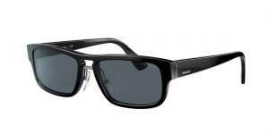 Prada Man PR 05VS - Frame color: Black, Lens color: Blue, Size 56-18/145