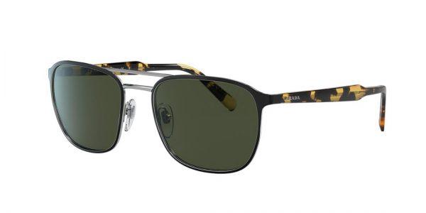 Prada Man PR 75VS - Frame color: Black, Lens color: Green, Size 56-20/145