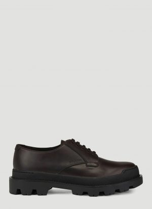 Prada Platform Lace up Shoes in Brown size UK - 11