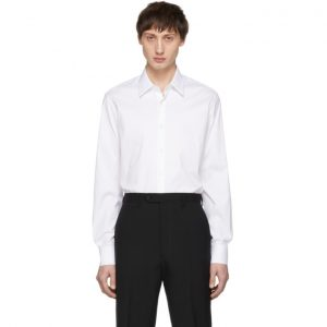 Prada White Stretch Poplin Shirt