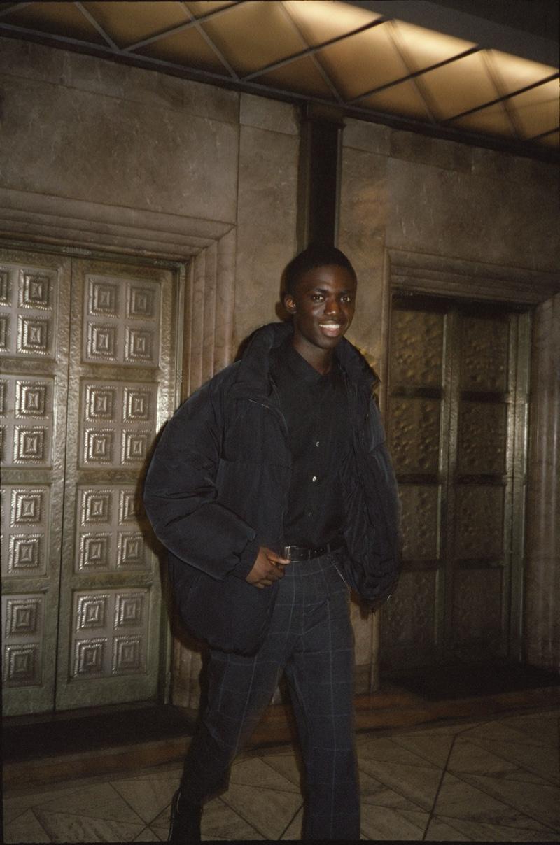 All smiles, Jeremiah Berko Fourdjour sports an all-black look from Pull & Bear.