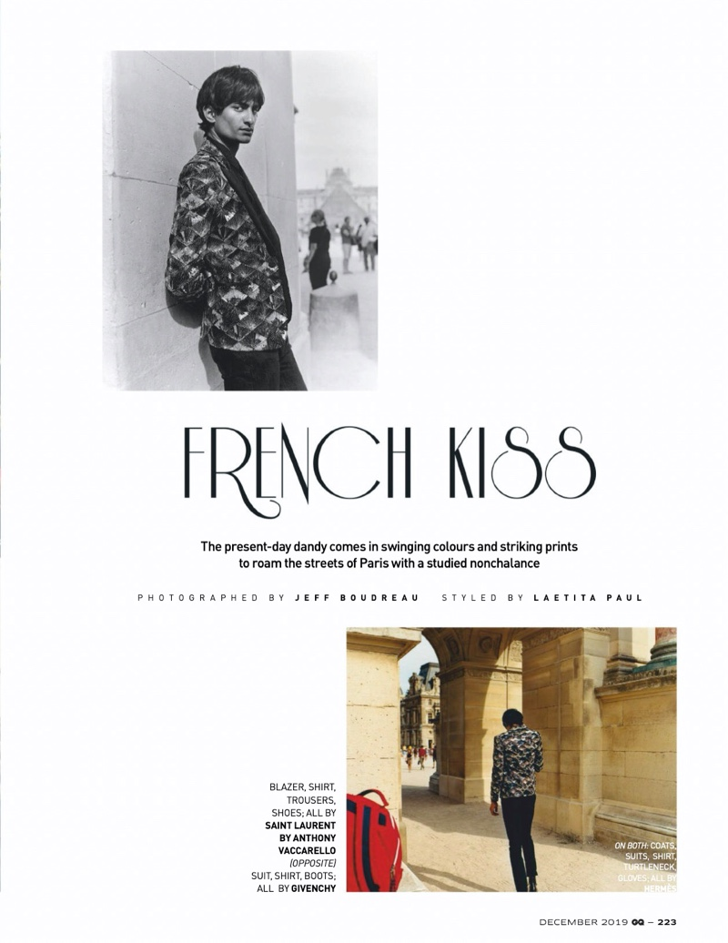 French Kiss: Rishi Robin for GQ India