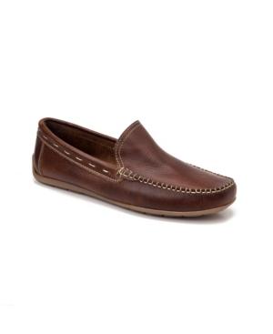 Sandro Moscoloni Whip Stitch Moc Toe Slip-On Men's Shoes