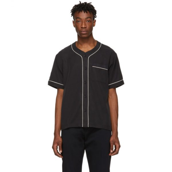 Saturdays NYC Black Benny Short Sleeve Shirt