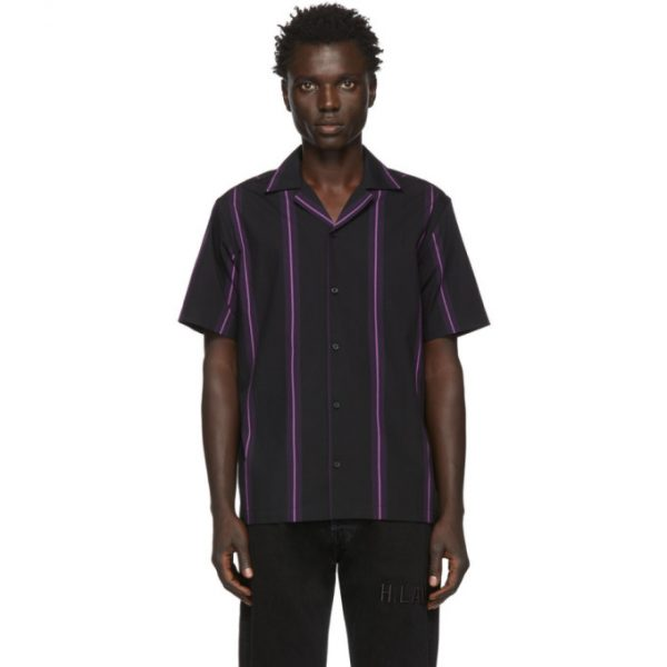 Saturdays NYC Black Canty Stripe Shirt