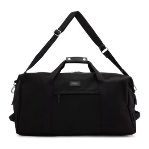 Saturdays NYC Black Core Norfolk Hold All Duffle Bag
