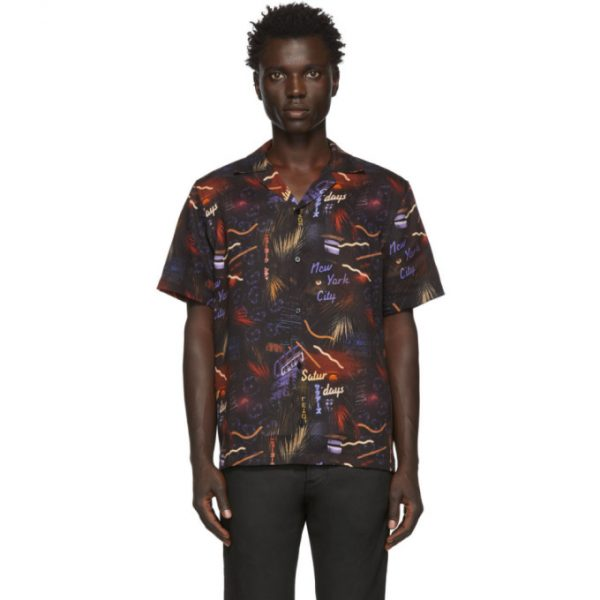 Saturdays NYC Black Midnight Paradise Shirt
