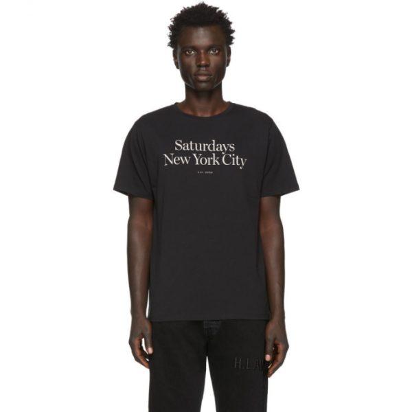 Saturdays NYC Black Miller Standard T-Shirt