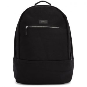 Saturdays NYC Black Nylon Hannes Backpack