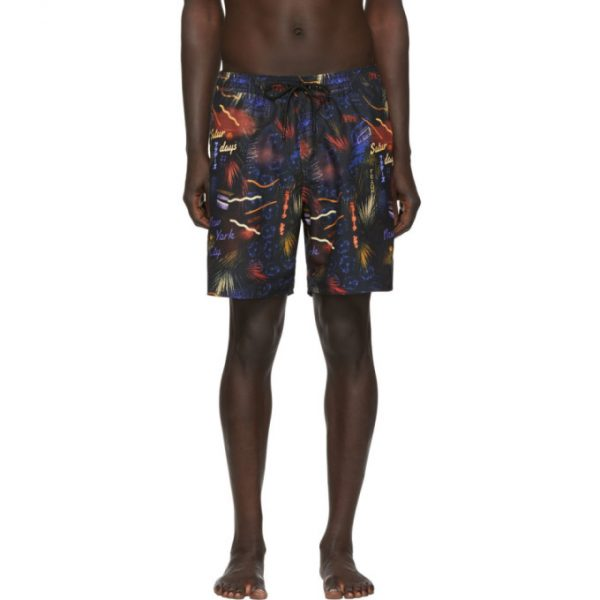 Saturdays NYC Black Timothy Swim Shorts