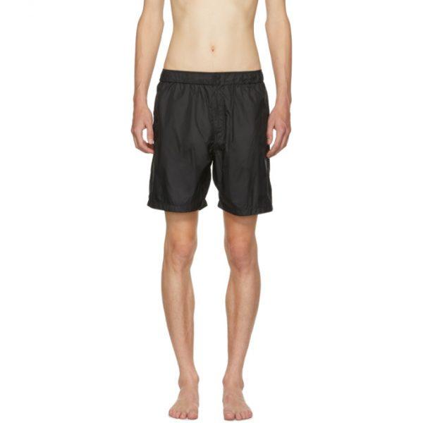 Saturdays NYC Black Trent Solid Swim Shorts