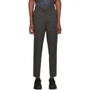 Saturdays NYC Black and Blue Plaid Leon Trousers