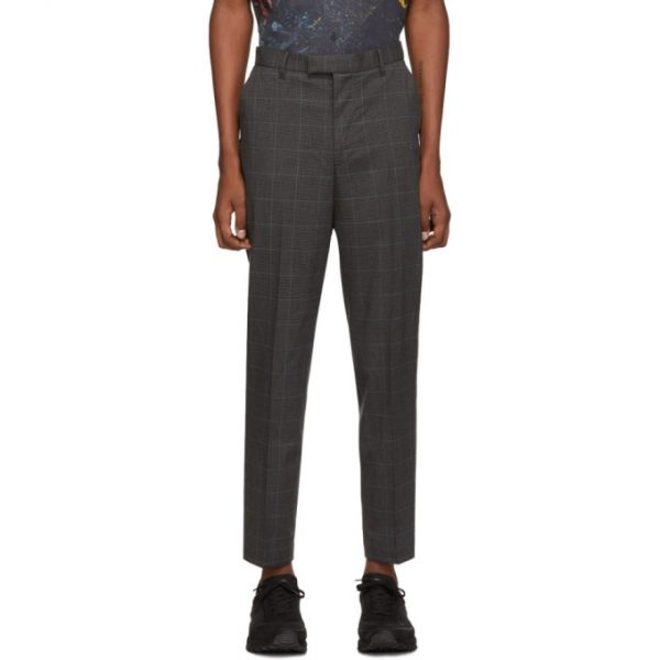 Saturdays NYC Black and Blue Plaid Leon Trousers