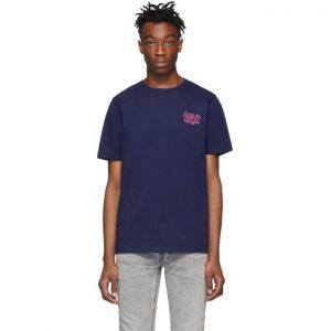 Saturdays NYC Blue Script Logo T-Shirt