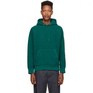 Saturdays NYC Green Reverse Fleece Ditch Hoodie