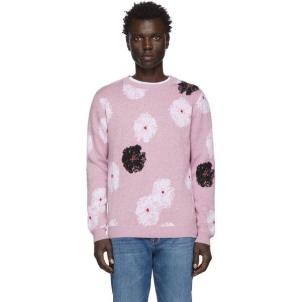 Saturdays NYC Purple Kang Moon Flower Sweater