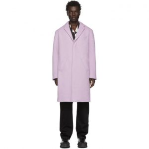Saturdays NYC Purple Wool Morgan Coat
