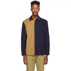 Saturdays NYC Purple and Beige Cord Mott Shirt