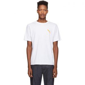 Saturdays NYC White Gotham Slash T-Shirt