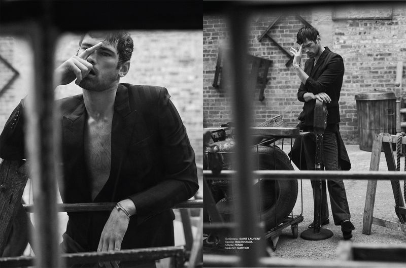 Sean O'Pry Embraces Fighting Spirit for Numéro Russia