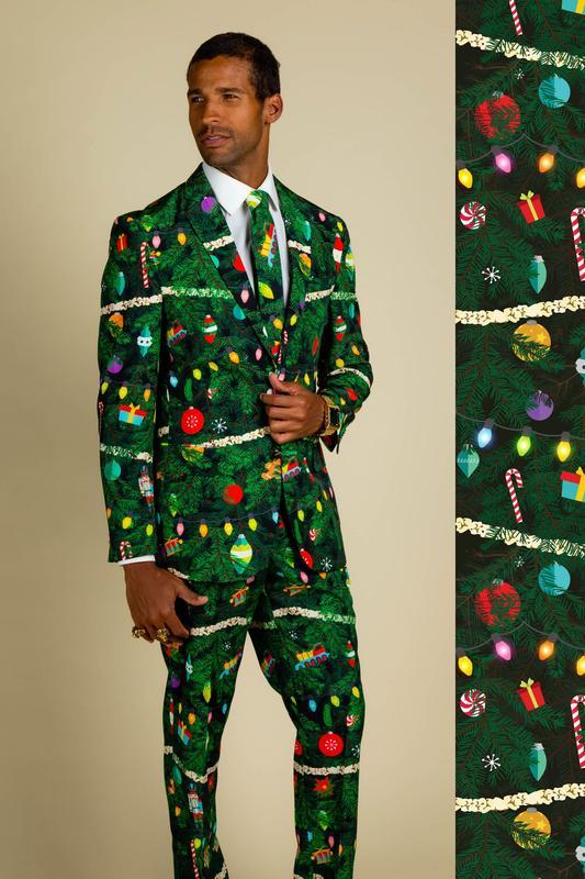 Shinesty Christmas Tree Camo Christmas Tree Print Suit