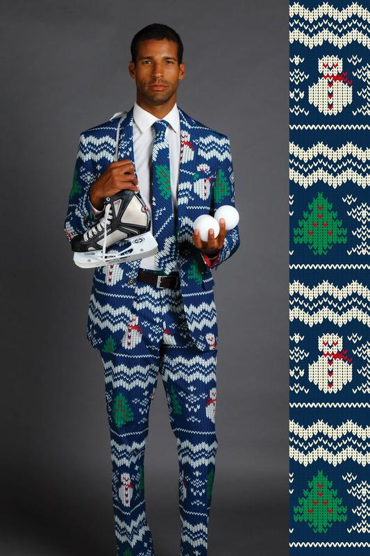 Shinesty Eggnog Aficionado Snowman Print Christmas Suit