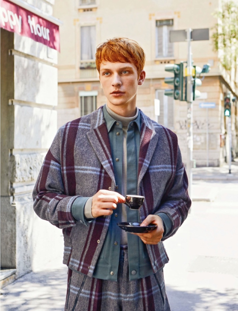 Simon Takes to Milan in Ermenegildo Zegna for Life & Style México