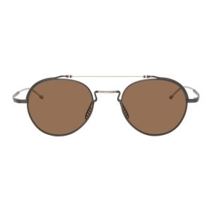 Thom Browne Black and Silver TBS912 Sunglasses