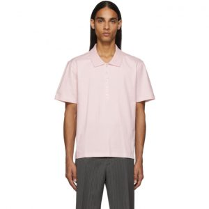 Thom Browne Pink Relaxed Fit Side Slit Polo
