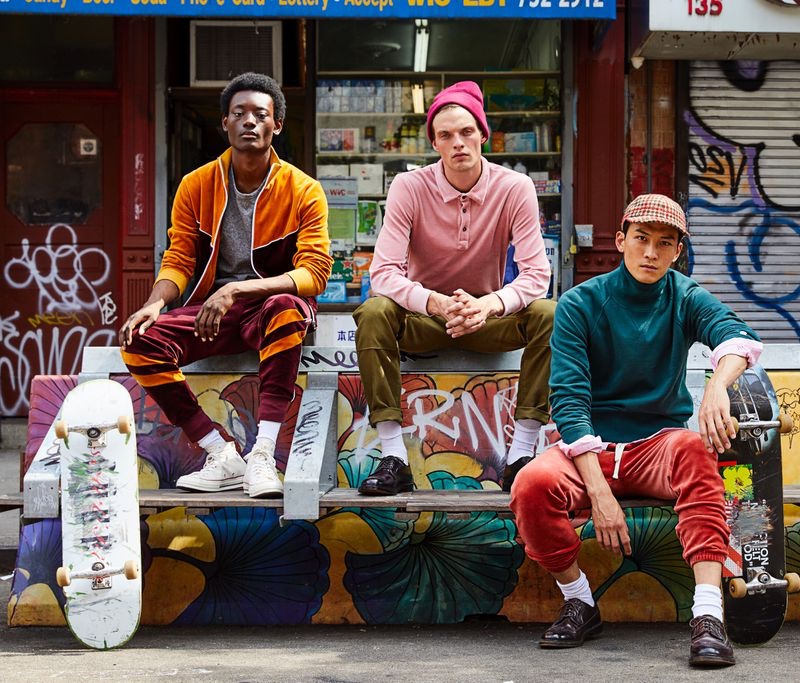 Youssouf Bamba, Rocky Harwood, and InHyuk Yeo come together in colorful styles from Todd Snyder.
