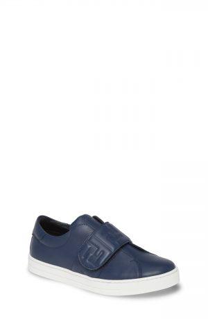 Toddler Fendi Ff Logo Sneaker, Size 8US / 24EU - Blue