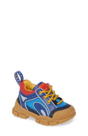 Toddler Gucci Flashtrek Sneaker, Size 7US / 23EU - Blue