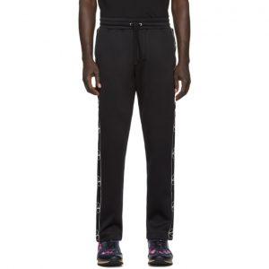 Valentino Black Jersey Logo Lounge Pants