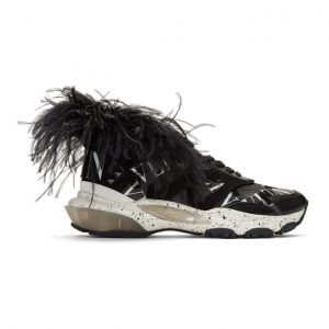 Valentino Black Valentino Garavani Camo Feather Bounce Sneakers