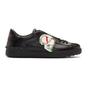 Valentino Black Valentino Garavani Undercover Edition Logo Skull Sneakers