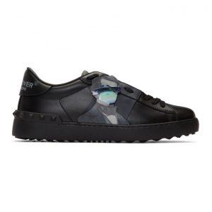 Valentino Black Valentino Garavani Undercover Edition Rockstud UFO Open Sneakers