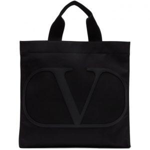 Valentino Black Valentino Garavani VLogo Tote