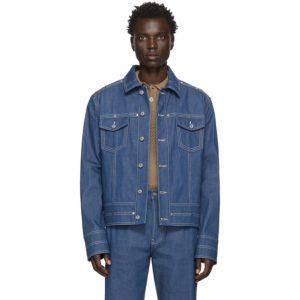 Valentino Navy Denim Rivet Jacket