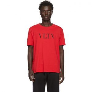 Valentino Red and Black VLTN T-Shirt