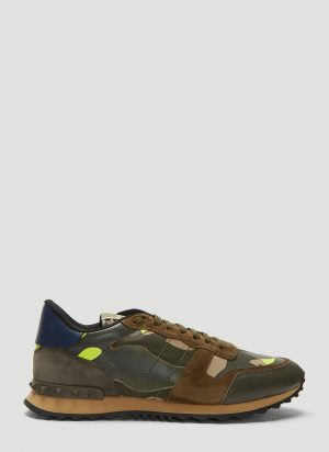 Valentino Rockrunner Camouflage Sneakers in Green size EU - 43